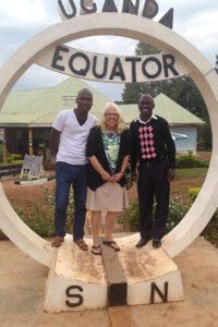 Judy Shepherd in Uganda on the Equator