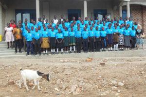Jud Shepherd in Uganda at secondary school