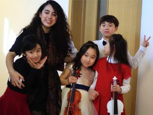 Ivetthe Colio with her Students